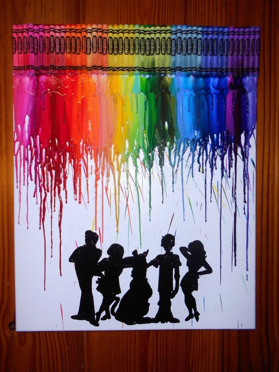 25 best ideas about crayon painting on pinterest crayon for Melted crayon art techniques