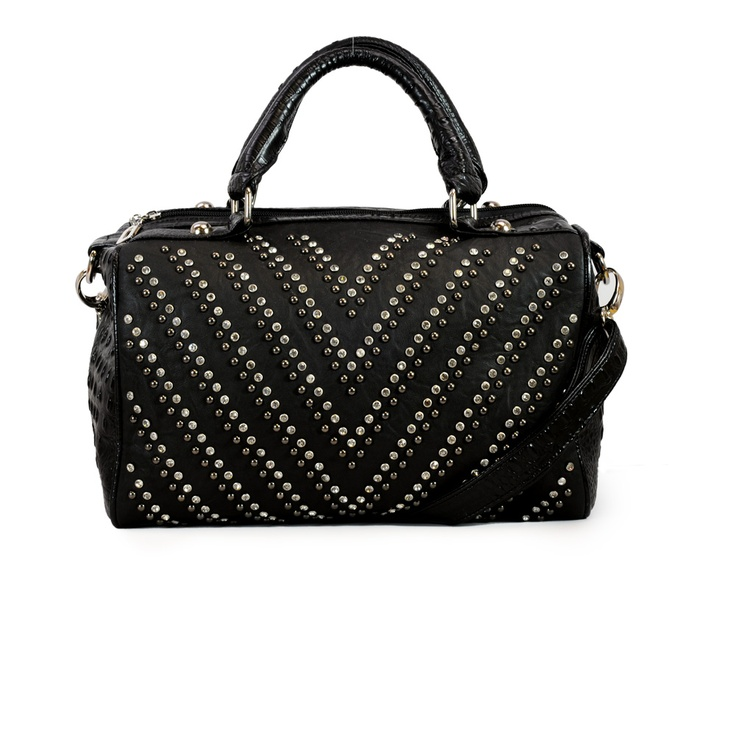 Latique Pacha Studded Satchel Black up to 70% off   Handbags   Little Black Bag