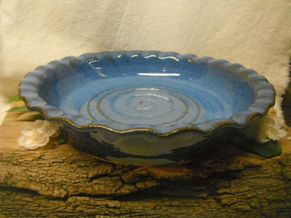 Pie Plate Oven Safe Casserole Baking DIsh by FattyFrogPots $35.00 & 20 best Pottery pie dish images on Pinterest | Pie dish Pottery and ...