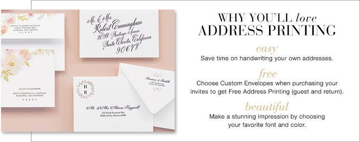 Wedding Envelopes & Free Guest Addressing   Wedding Paper Divas