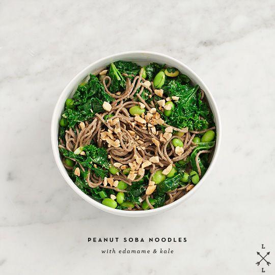 Peanut Soba Noodles with Edamame & Kale by loveandlemons #Soba_Noodles #Edamame #Kale: Peanuts, Noodle Salad, Noodles Recipe, Food, Edamame, Other, Soba Noodles, Peanut Soba