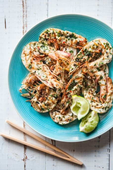 Asian Style Barbecued Prawns