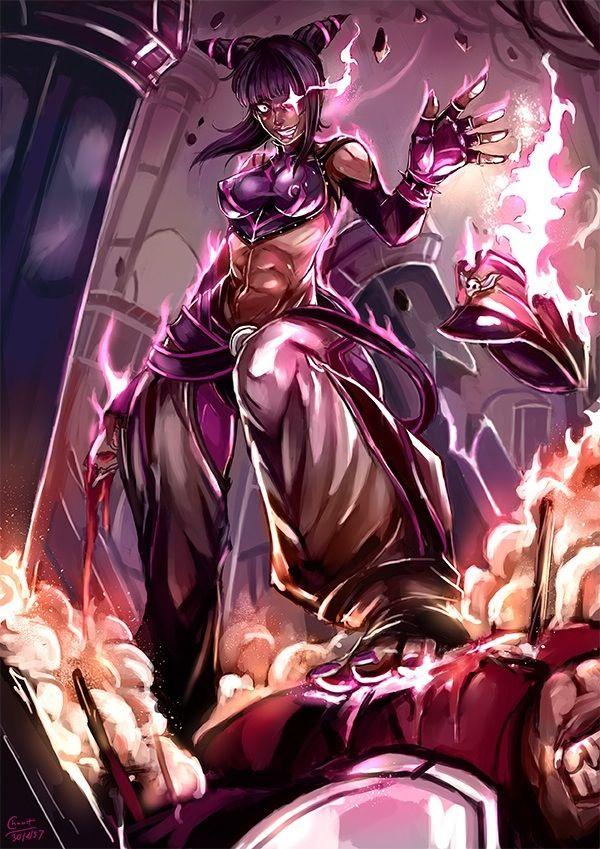 Juri Han versus M. Bison. | Street Fighter | Pinterest ...