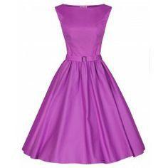 Retro šaty ve stylu 50. let. šaty pro plnoštíhlé dámy. nádherné šaty ve fialové barvě, krásně padnou, strečová bavlna, součástí pásek, možno doplnit spodničkou.