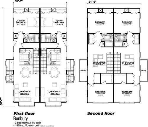 29 best images about duplex plans on pinterest house for Modular duplex house plans