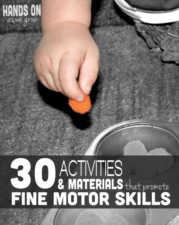 30 Activities & Materials That Promote Fine Motor Skills - pinned by @PediaStaff – Please Visit ht.ly/63sNt for all our pediatric therapy pins