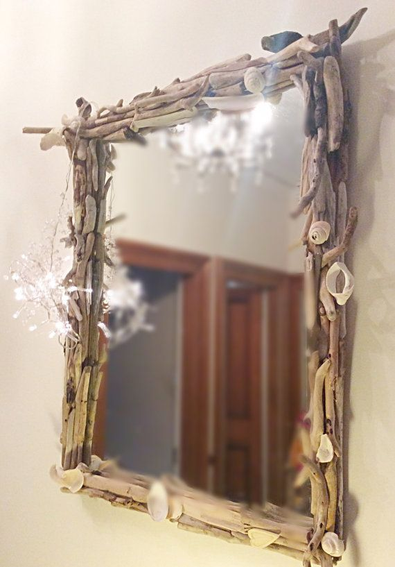 Driftwood Mirror Large Driftwood Mirror by DaisysDriftwood on Etsy