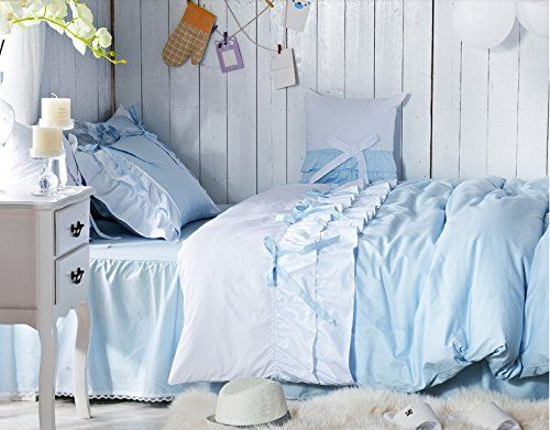 FADFAY Home Textile,Cute Korean Ruffle And Lace Bedding,Elegant Girls Princess Bedding Set,Designer Kids Duvet Cover Sets: Amazon.co.uk: Kitchen & Home
