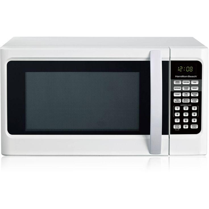 Hamilton Beach 1.1 cu ft Digital White Microwave Oven Bargain