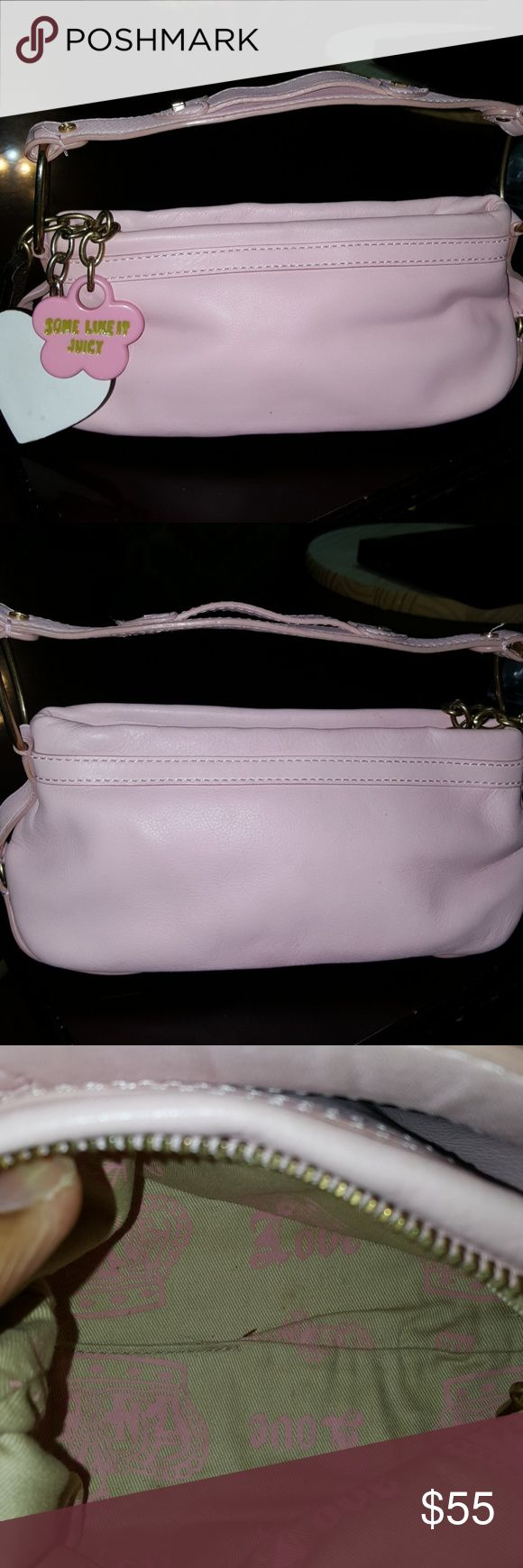 Juicy couture purse Pink Juicy leather purse.   Very cute! Juicy Couture Bags Mini Bags