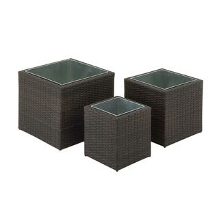 Graceful Metal Rattan Planter (Set of 3) | Overstock.com Shopping - The Best Deals on Planters