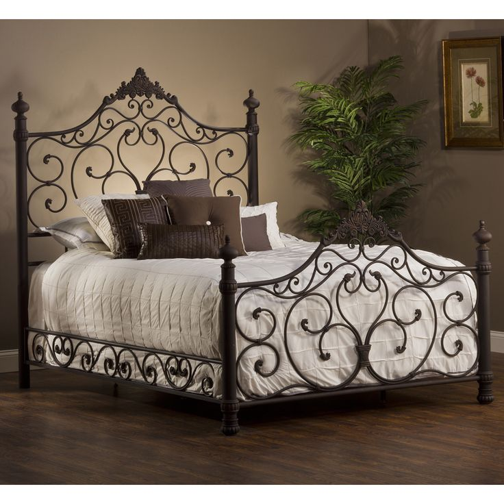 baremore iron bed by hillsdale furniture wrought iron metal headboard footboard frame complete bed - Metal Bed Frame With Headboard