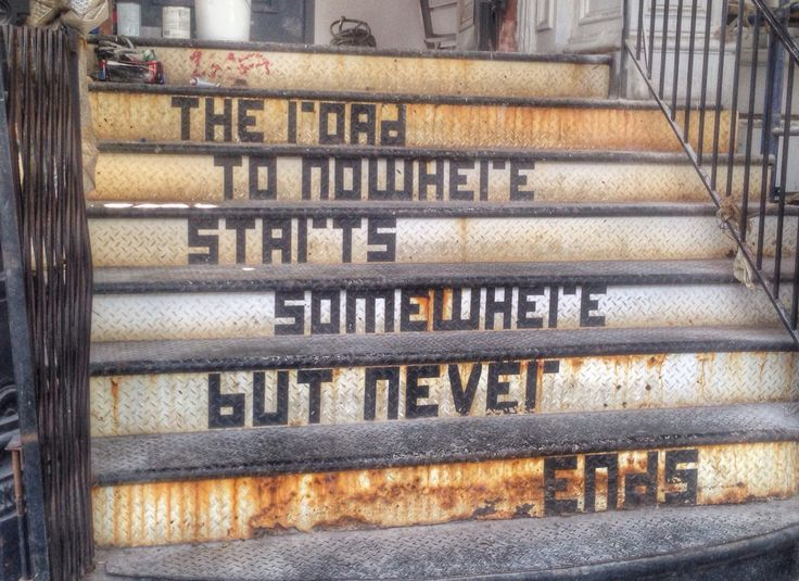 The road to nowhere starts somewhere but never ends.  - #NYC #streetart