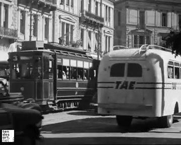 Οδός Πανεπιστημίου απο την ταινια: Το σωφεράκι 1953 (Φίνος Φιλμ)