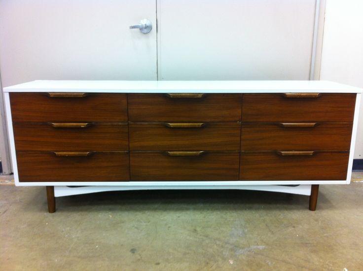 Antique Furniture White Walnut Dresser Credenza Tv Media