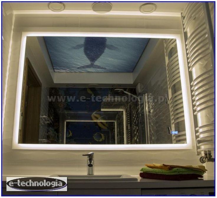 oświetlenie led do łazienki  #oświetlenieled #dekoracja #łazienka #lustro #podświetlenie