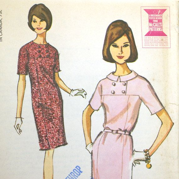 Vintage 60s Sheath Dress Sewing Pattern McCall's 7918 Bust 34 Uncut. $5.00, via Etsy.1950S 1960S, Sewing Pattern, 60S Sheath, Vintage 60S