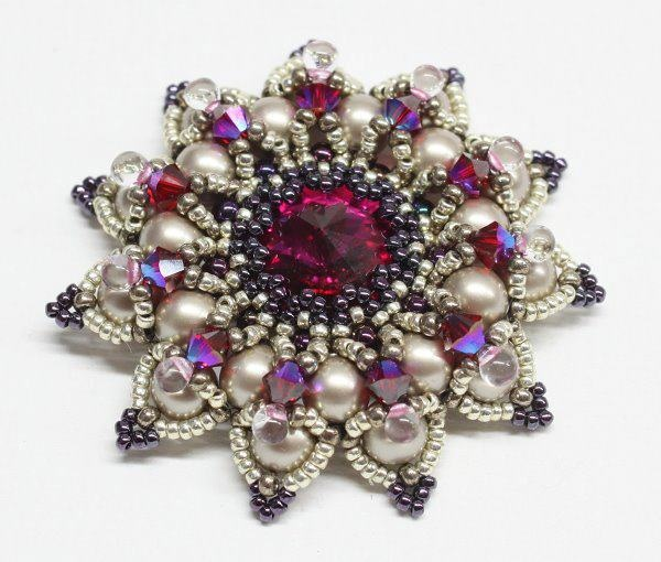 Sabine Lippert, Granada Brooch in fuchsia I have this in green and blue it was my grandmothers so surprised to see it on here