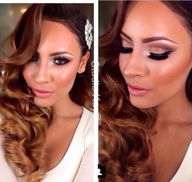 Hollywood Glam Wedding Makeup : Beautiful hair and makeup for your wedding day! Theme: Old ...