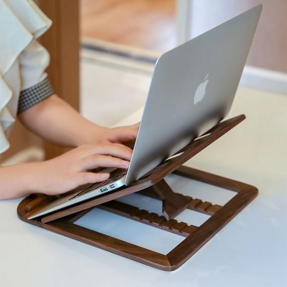 Adjustable laptop stand wood laptop stand holder for
