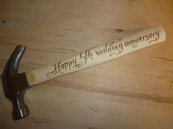 Personalised hammer hand engraved gift for him gifts