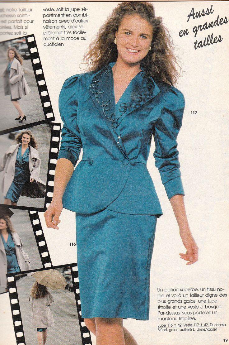 D Tails Sur Magazine Burda Mode N 11 Novembre 1990 Tenues De F Tes Patrons Couture Mode