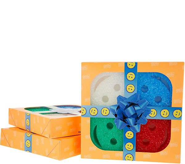 Turn chores into cheers with this set of three Scrub Daddy multicolor sponge packs. The smiling sponges change with the water temperature. Page 1 QVC.com