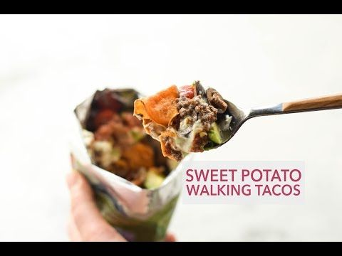 Sweet Potato Walking Tacos (Taco in a bag!) - Easy GF Recipes