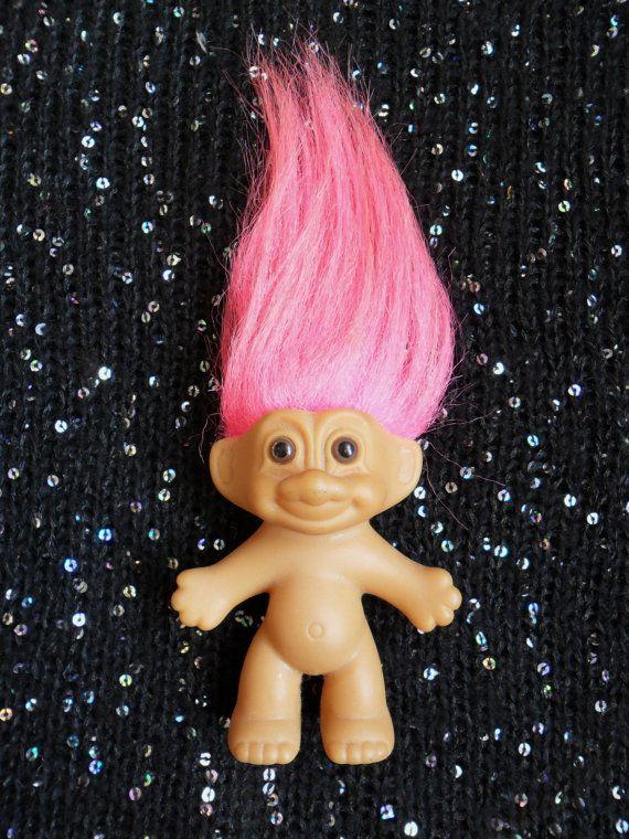 Vintage 80s Retro RUSS Troll Doll Pink Hair by Hoodratroughdiamond, £4.00