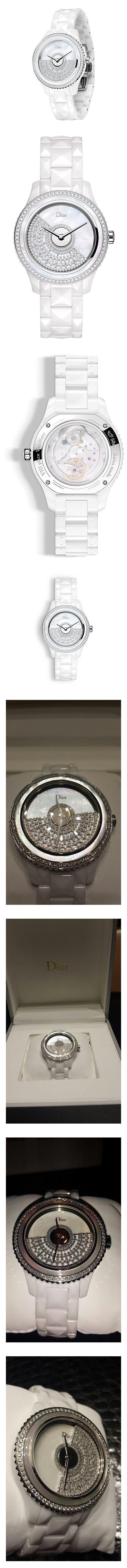 Haute Couture Diva Millionaire Dior GRAND BAL set with Pavee Diamonds #watch #christiandior #wrist_watches #watches #women #departments #shops