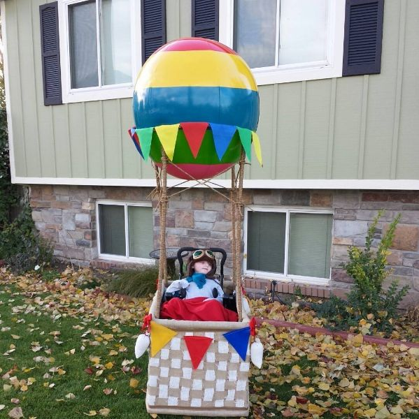 Halloween Wheelchair Costume Ideas for Kids - Hot Air Balloon - Photo Credit: House of Redheads
