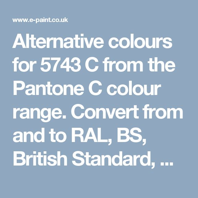 alternative colours for 5743 c from the pantone c colour range convert from and to