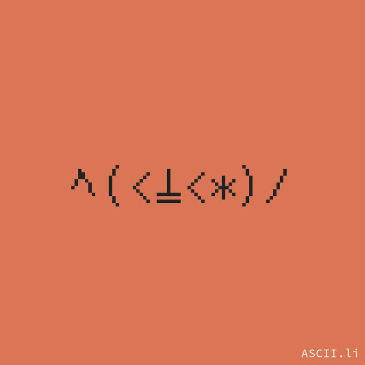 ヘ(<⍊<*)ノ https://ascii.li/emoticon-creator #LennyFace #TextFace #JapaneseEmoticon #Emoji #Smiley #Unicode #Random