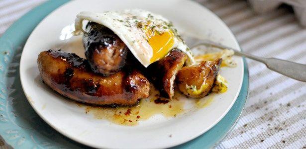 Honey glazed chipotle sausages