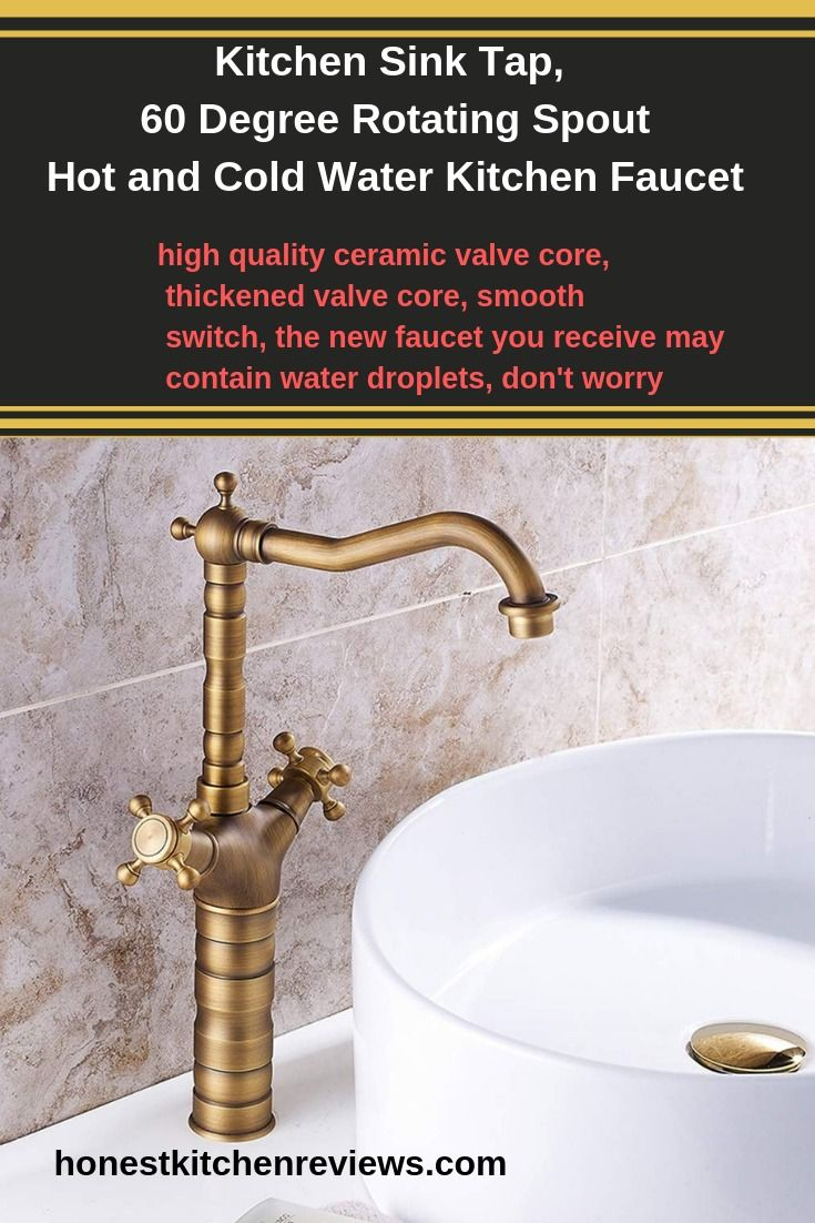 Kitchen Sink Tap 60 Degree Rotating Spout Hot And Cold Water Kitchen Faucet Kitchen Sink Taps Kitchen Faucet Best Kitchen Faucets