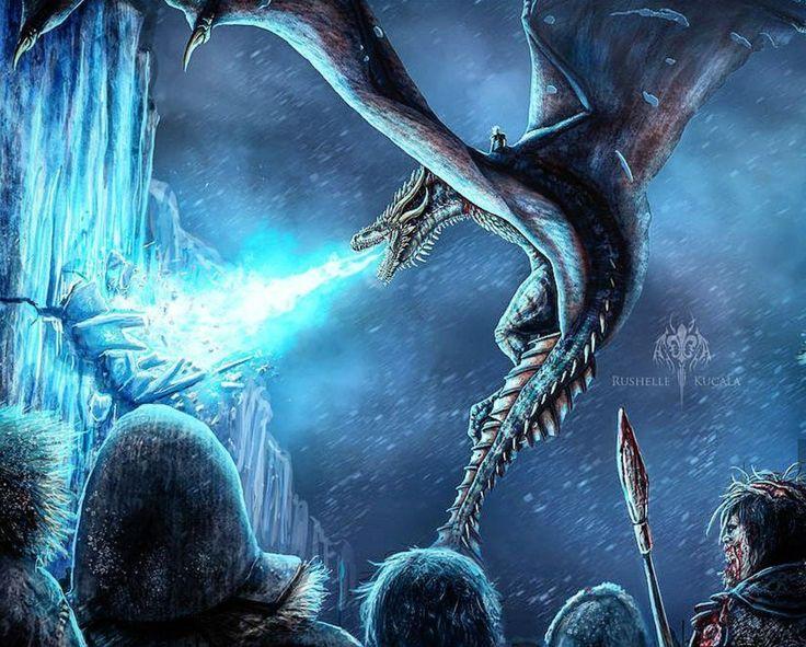 Картинки ледяного дракона из игры престолов