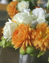 country centerpieces for girl baby shower | baby shower flower centerpice ideas