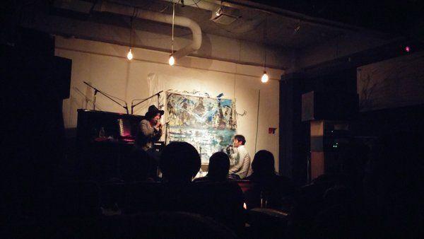 provoでの近藤康平さん×渡辺シュンスケさんのライブペインティングイベント、とっても素敵でした!blue birdが印象的。背番号でのシュンちゃんの歌声かっこよかった!