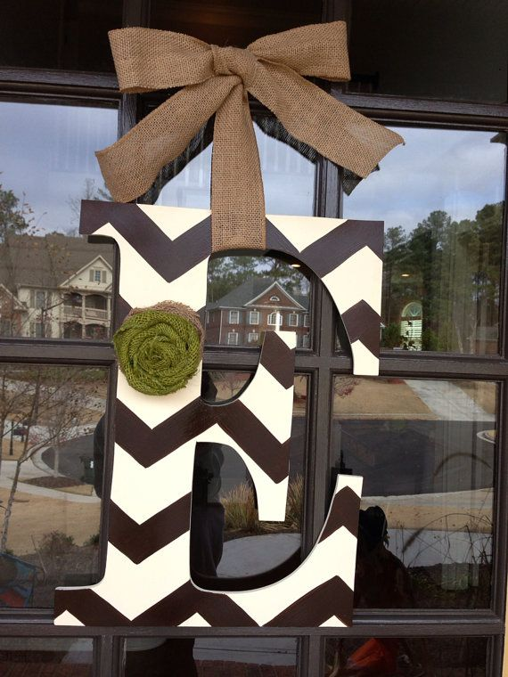 Front Door Initial Hanger by KnockinOnWood on Etsy