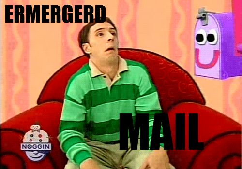 ERMERGERD!Laugh, Ermahgerd, The Face, Funny Pictures, Funny Stuff, Blue Clues Funny, The, Mail Boxes, Giggles