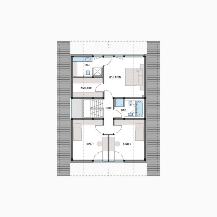 HUF Fachwerkhaus Grundriss Dachgeschoss MODUM 710 Haus
