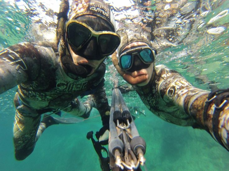 Spearfishing in Corsica with Rammstein Lindemann, aka Franck Foray.
