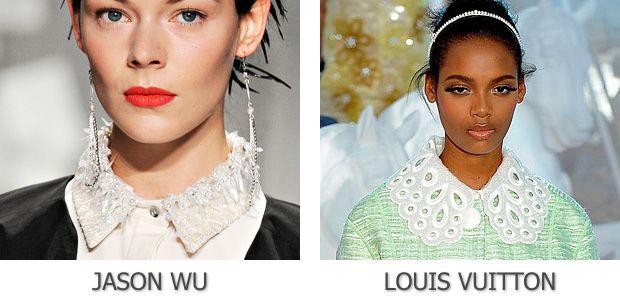 Белые воротники от Jason Wu и Louis Vuitton
