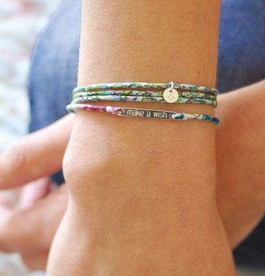 Liberty fabrics in sweet, delicate bracelets
