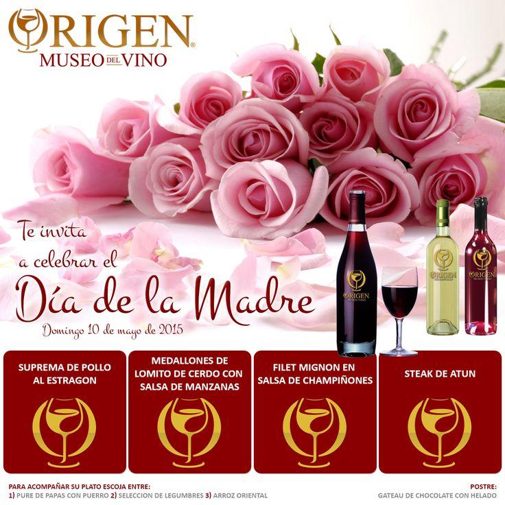 CELEBRE EL DÍA DE LA MADRE CON NOSOTROS Esta es una bonita ocasión para compartir en familia. Ven a Origen - Museo del vino, un lugar para disfrutar de exquisita gastronomía, de los mejores vinos y del mejor servicio a la mesa. Reservas en http://goo.gl/Y1wzaq #restaurantesmedellin #origen #museodelvino #cocinamediterránea