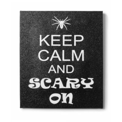 Keep Calm and Scary On Wall Canvas