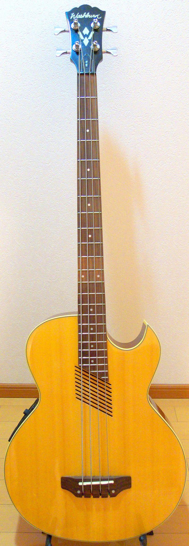 Washburn_AB-10 electric acoustic Bass --- https://www.pinterest.com/lardyfatboy/