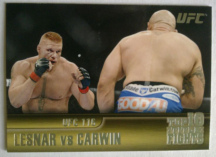 BROCK LESNAR/SHANE CARWIN 2011 Topps UFC Title Shot Top 10 Title Fights #TT28