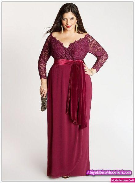 Büyük beden uzun abiye elbise bordo #büyük #beden #bordo #abiye #elbise