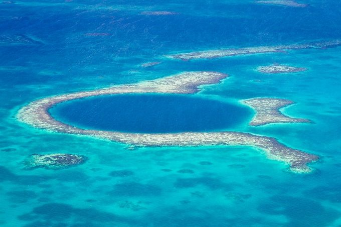 Great Blue Hole – Belize: This hole that's 984 feet across and upwards of 410 feet deep is among the best places on the planet to go scuba diving.